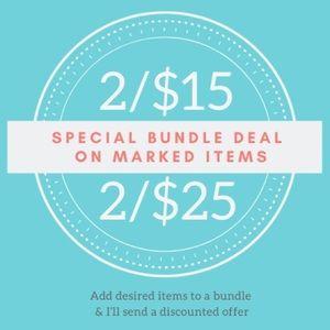 Bundle and save! See description.